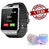 Premium Design SAMSUNG Galaxy S7 Edge Compatible Bluetooth Smart Watch DZ09 Phone With Camera and Sim Card & SD Card Support with free LED Light mini Bluetooth speakers (Random Colour)