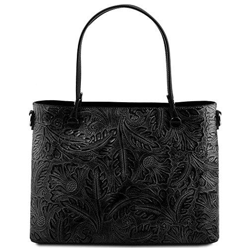 Tuscany Leather TL141655, Borsa a spalla donna Nero Nero compact
