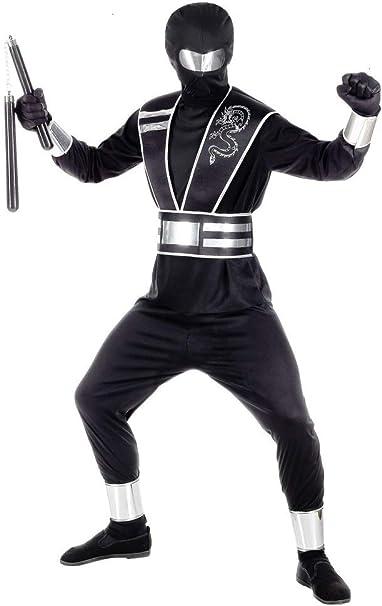 Das Kostümland Disfraz de Ninja con Espejo para niños, Negro y ...
