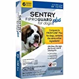 SENTRY Fiproguard Plus for Dogs, Flea and Tick Prevention for Dogs (89-132 Pounds), Includes 6 Month Supply of Topical Flea Treatments
