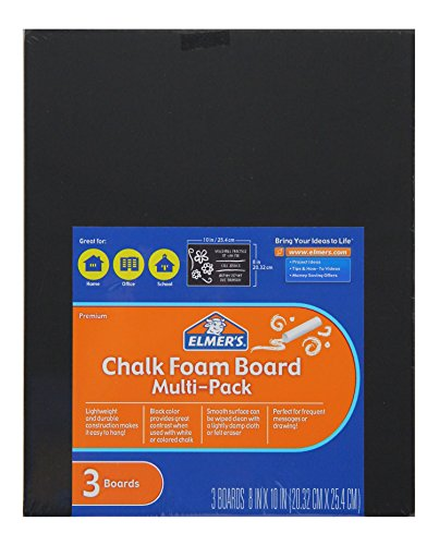 (Elmer's Chalk Board, 8 x 10 Inches, 3/16 Inch Thickness, Black, 3 Count)