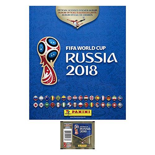 Colección Panini de la Copa Mundial FIFA 2018 Rusia con 5 Stickers y Álbum