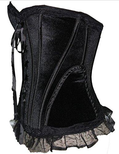 ZAMME Womens Burlesque Corset and Skirt Set