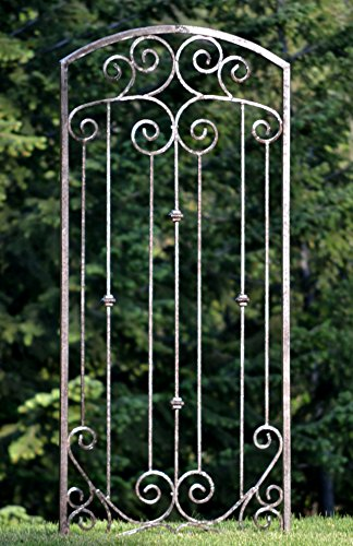 Wrought Iron Trellis - H Potter Large Garden Trellis Wrought Iron Heavy Scroll Metal Decoration Weather Resistant Lawn, Patio & Wall Decor Screen for Rose, Clematis, Ivy GAR602