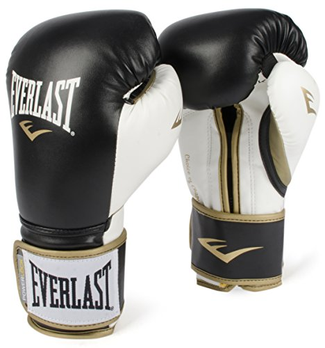 (Everlast PowerLock Training Gloves blk/Wht PowerLock Training Gove, Black/White, 16 oz)