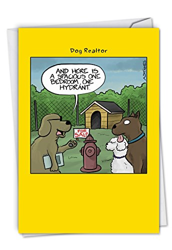 One Hydrant: Funny New Home Card, with Envelope. C6377NHG (A New Home For The Holidays Card)