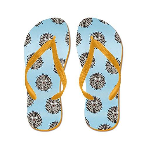 CafePress Blowfish - Flip Flops, Funny Thong Sandals, Beach Sandals Orange