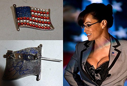 Lisa Ann Signed Personally Worn Used as Nailin Sarah Palin USA Lapel Pin BAS COA - Beckett Authentication ()