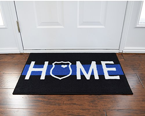 Police and Leo Home Thin Blue Line Doormat ~2x3 - FMS Exclusive