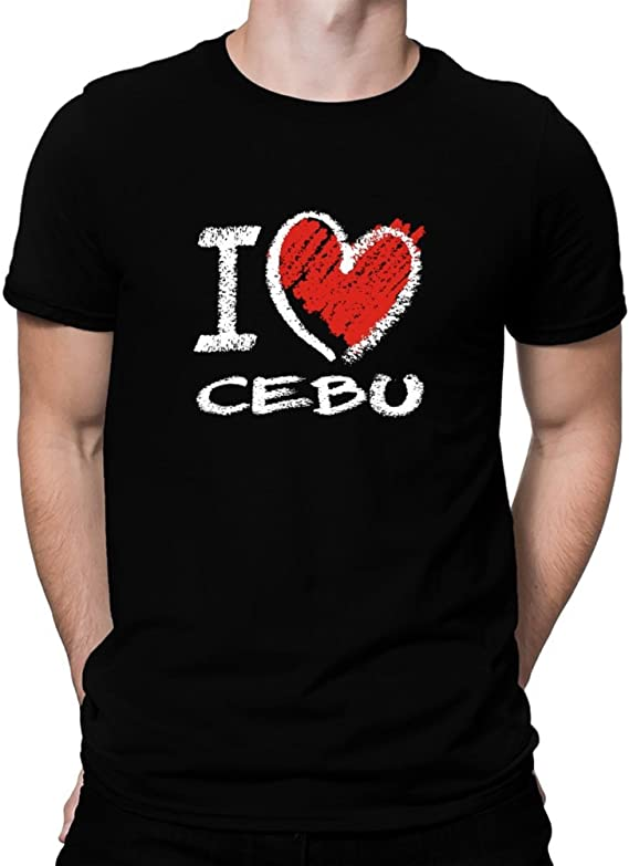 Amazon | I love Cebu chalk style Tシャツ | Tシャツ・カットソー 通販