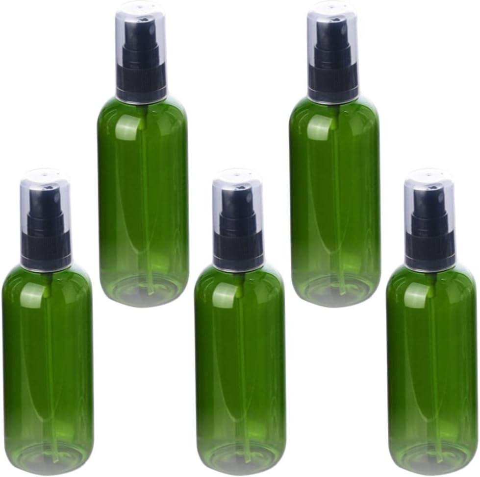 Artibetter 5 Piezas Botella Plástica Vacía Mascota Recargable Dispensador de Espuma Manual Rociador de Niebla Líquida Loción Envase Cosmético para El Hogar Al Aire Libre (50 Ml Verde)