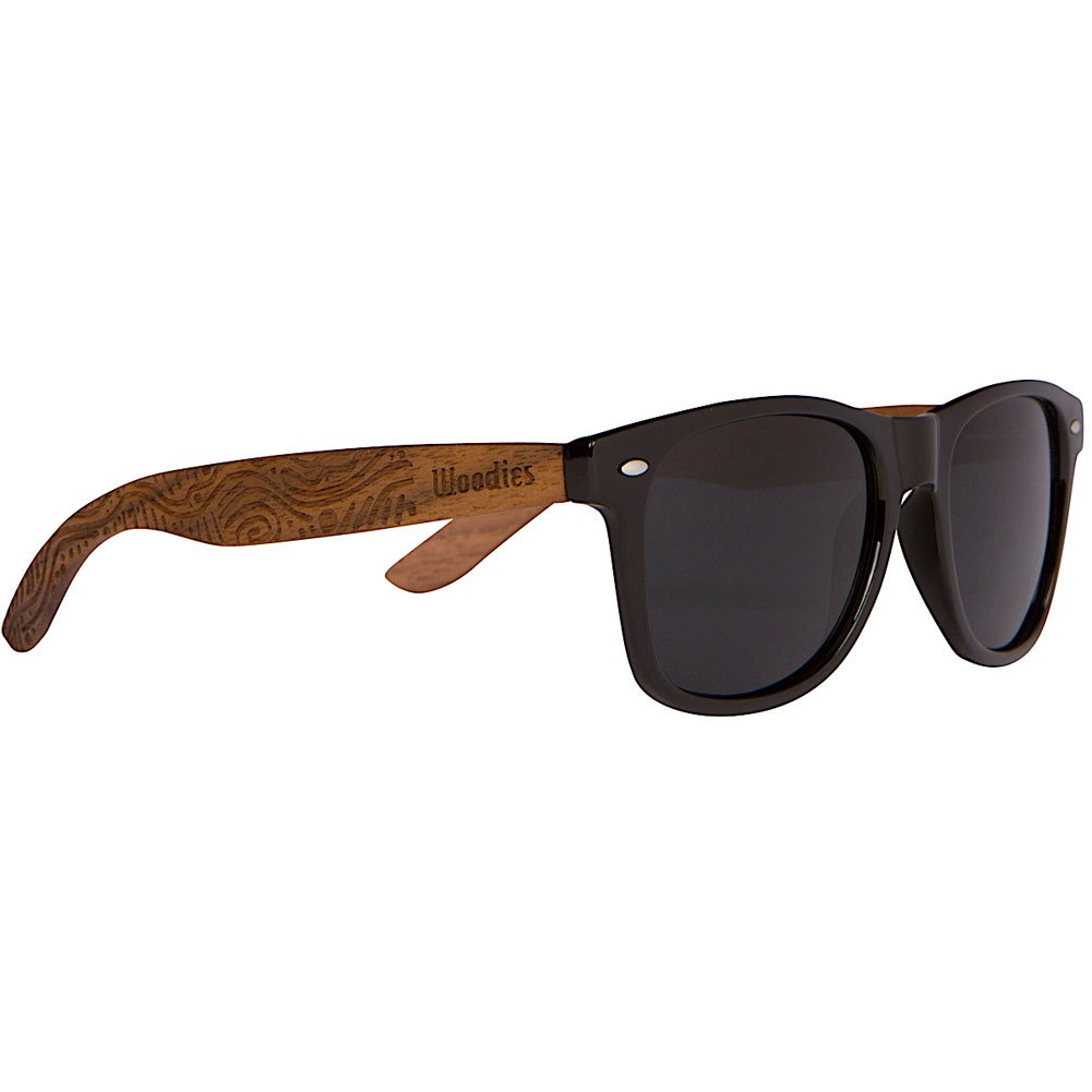 WOODIES Walnut Wood Wayfarer Sunglasses with Hippie Engraving