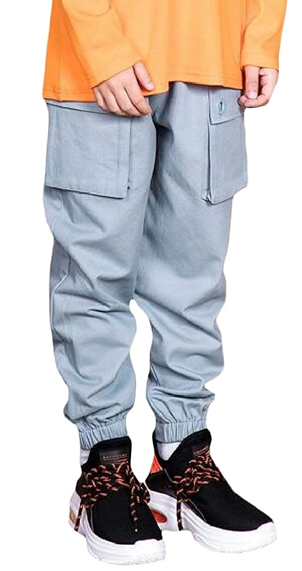 Sweatwater Big Boys Cargo Multi Pockets Elastic Waist Jogging Pant