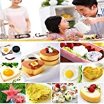 Fried Egg Mold Ring Set of 10 - CHANMOL Stainless Steel Non-Stick Egg Shaper Ring with Silicone Pastry Brush and Egg Separator, Kitchen Cooking Tools for Kids and Lovers 14 BRILLIANT DESIGN -- Star/Heart/Sun/Plum Flower/Mouse/Horse/Elephant/Bear 8 different lovely molds making pancake or egg with funny shapes easily. You can use them to make any delicious food you can think about, such as dessert, pastry, chapatty, jelly. Just have them and get your imagination started! PREMIUM QUALITY-- Our egg molds are made of stainless steel 18/8 with passed FDA certification ,and fully surgical-graded stainless-steel interior and outside , which gives it a brilliant, durable, rust-resistant finish that is easy to maintain, and will last a lifetime. CONVENIENCE-- Single weight about 32g, compact, durable & easy to use. Foldable handles with heat resistance silicone prevents burns to the hands, convenient to move and store. One silicone pastry brush and one egg yolk white separator are also included as bonus for you.