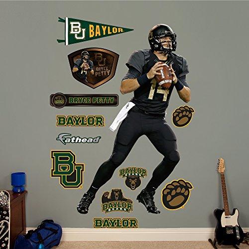"NCAA Baylor Bears Bryce Petty Fathead Real Big Decals, 46""W x 77""H"