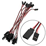 Kocome 10pcs 150mm Lead Servo Extension Wire Cable Cord For Futaba JR Male To Female