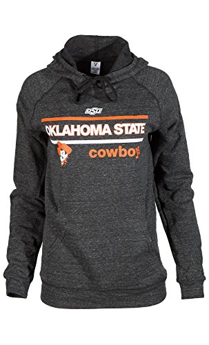 Official NCAA Oklahoma State University Cowboys OKState Pistol Pete OSU Women's Tri- Blend Hooded Sweatshirt