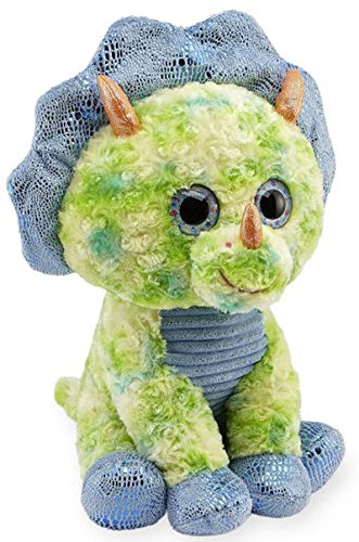 Animal Alley 15.5 inch Stuffed Sitting Triceratops - Green