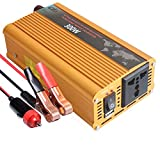 12V Pure Sine Wave Power Inverter 300W  To AC 110V High Efficient DC Inverters For Smartphones, Tablet, Laptop (300W)