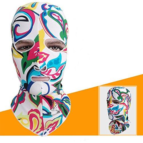 CYW Gorro de natación con protección UV 50+, máscara de natación de Cara Completa, Cubierta para la Cabeza y el Cuello...