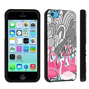 DuroCase ? Apple iPhone 5c Hard Case Black - (Flamingo Pink)