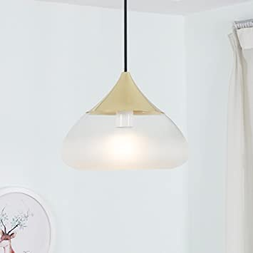 ZZW Lámparas de Techo nórdicas LED, Vidrio de Aluminio ...