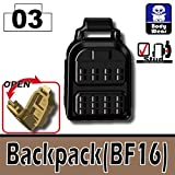 BF16 Backpack 3 Pack in Black - Custom Minifigure Pieces