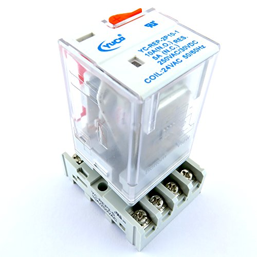 YC-REP-2P10-1 & YC-REP2-S ICE CUBE GENERAL PURPOSE RELAY OCTAL BASE 8 PIN 2 PDT 10AMP 24VAC 50/60HZ (Octal Base)