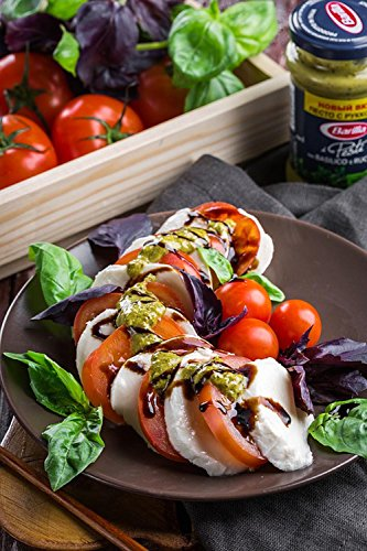 LAMINATED 24x36 inches POSTER: Salad Caprese Mozzarella Cheese Vegetables Food Italy CafÌ Plate Restaurant Dinner Tasty Greens Kitchen Lunch Rustic For Gourmets Summer Vegetable Nutrition Fresh ()