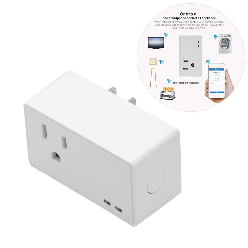 win-full USA Specification Mini WIFI Wireless Timing Smart Square Socket