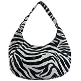 FASH Large Black Zebra Print hobo bag-women hand bag,casual bag,girls college bag,shopping bag