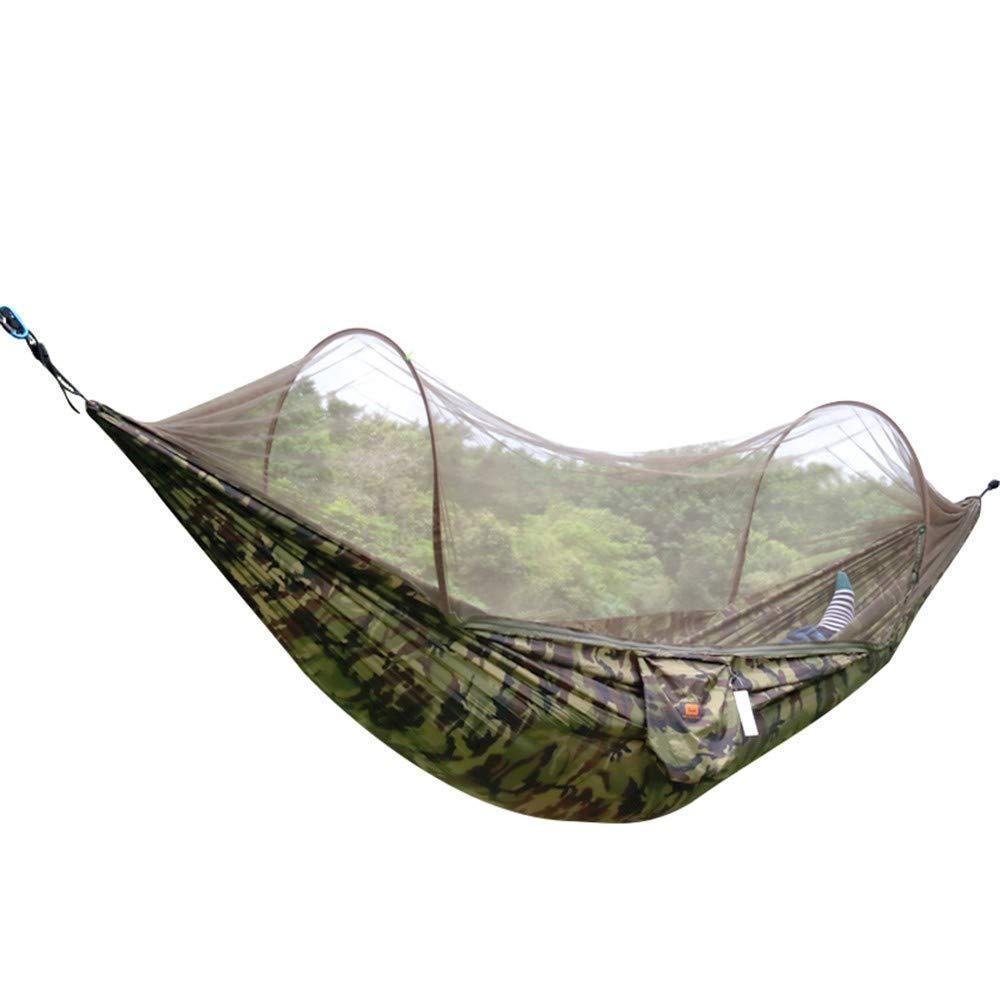 Zyyaxky Schaukel Mit Anti-Moskitonetze Mesh Portable Camping Wilden Einzigen Doppel-Hängematte Camping, 290  140Cm