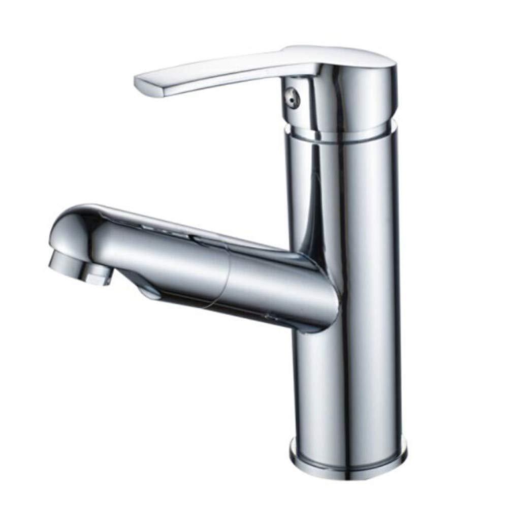 Faucet Waste Mono Spoutbathroom Pull Type Cold and Hot Facebasin Handbasin Retractable Platform Basin