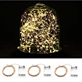 Blinngo LED Copper lights, 3-Pack 9.8ft 30 LED 3 AA Battery Powered Starry String Lights, Decor Rope lights with Battey Box For Home, Gardens, Lawn, Patio, Weddings, Parties (Warm White)