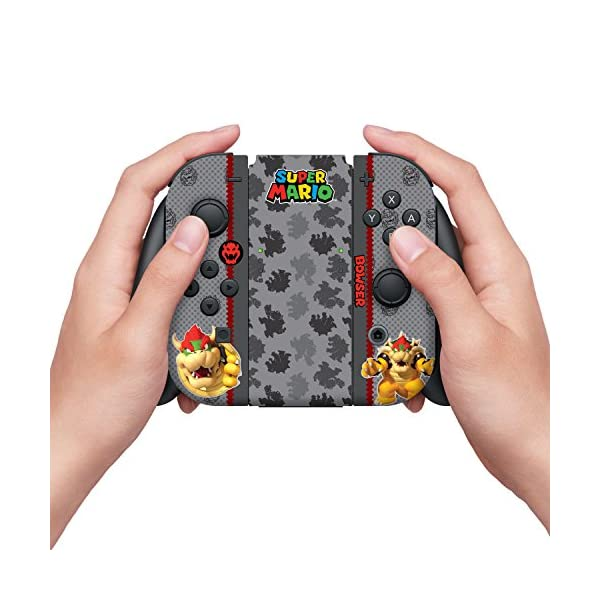 "Controller Gear Nintendo Switch Skin & Screen Protector Set, Officially Licensed By Nintendo - Super Mario Evergreen ""Bowser"" - Nintendo Switch 3"