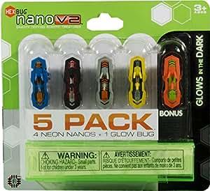 HEXBUG Neon Nano V2 + 1 Glow in The Dark Bugs (5-Pack)
