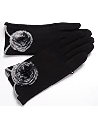 The New Women's Winter Gloves Touch Screen Not Fall Down,4