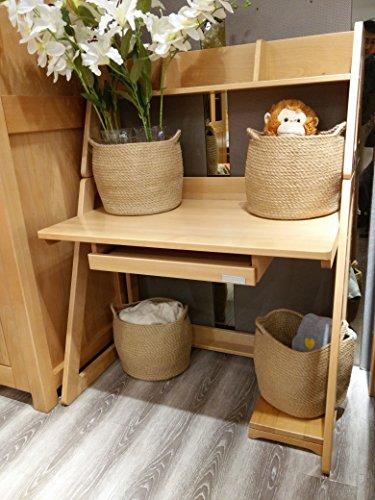 Jute Storage Baskets Dual Handles Storage Bin Basket Gift Baskets Floor Bin Pot Plant Cover Basket Belly Storage Baskets Carrying Tote Rope Basket, Storage Basket, Planter Basket by OrganizerPro (Image #2)