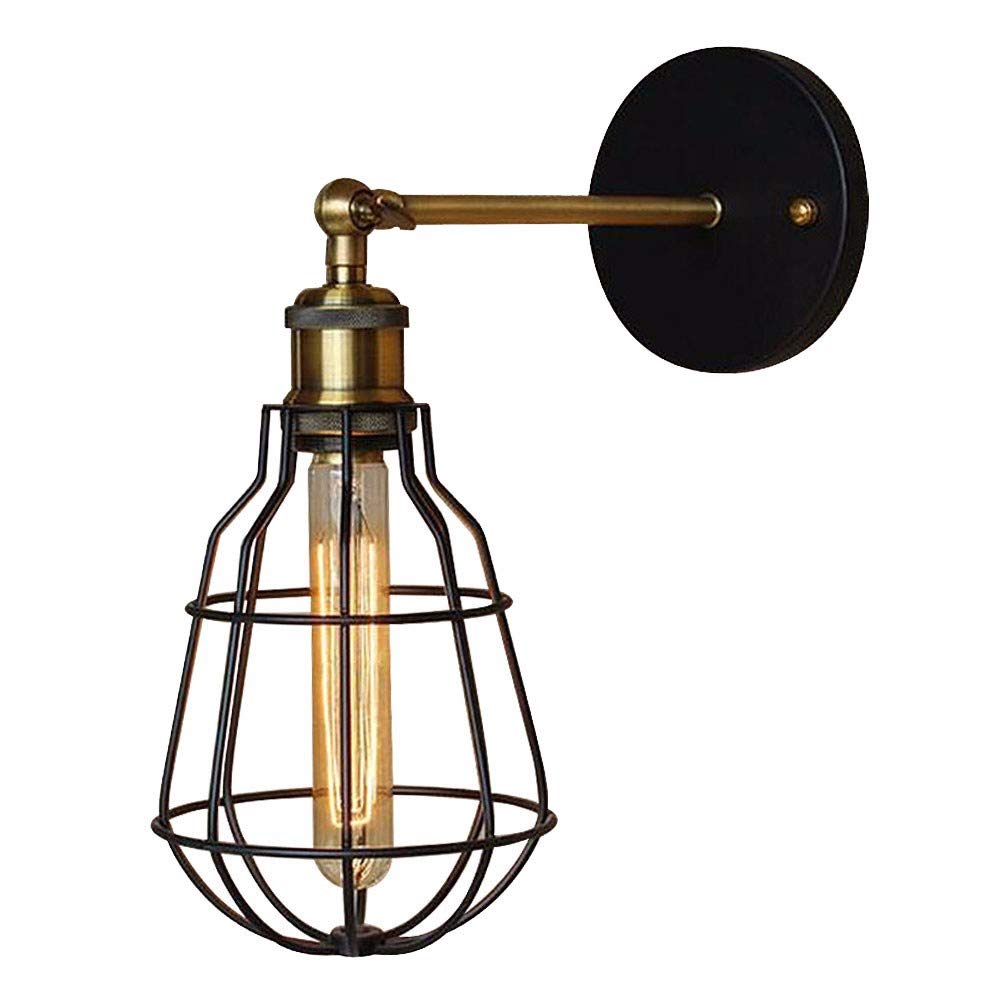 AWOPH Schwarzes Bronze SchmiedeeisenWohnzimmer-Schlafzimmerrestaurant-Café-Hallenhotel der modernen Wandleuchte der Art LED Wandleuchte Wandlampe