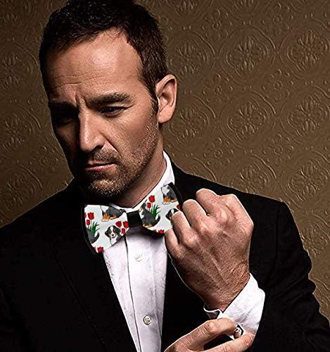 Bernese Mountain Dog Bow Tie for Men Tuxedo /& Wedding Solid Color