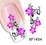 1 Sets Delightful Popular Hot New Nail Art Sticker Flower Sticks Template Tips Water Transfer Style CodeXF1434