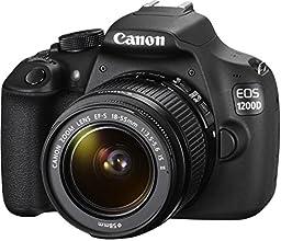 Canon EOS 1200D Fotocamera Reflex Digitale 18 Megapixel con Obiettivo EF-S 18-55mm IS II, Nero