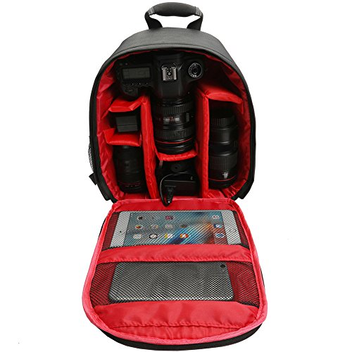 Price comparison product image Little rock Waterproof Digital DSLR Photo Padded Backpack Camera Bag Case for Canon Nikon