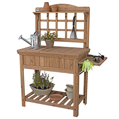 potting bench cedar - 2