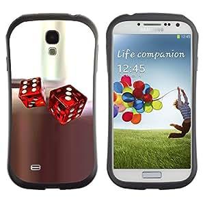 Suave TPU GEL Carcasa Funda Silicona Blando Estuche Caso de protección (para) Samsung Galaxy S4 I9500 / CECELL Phone case / / Dice Red White Casino Game Rolling Play /