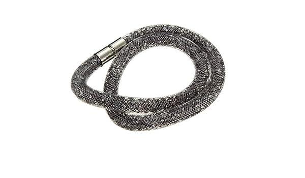 Stardust Mesh Crystal Magnet Buckle Clasp Double Bracelet Necklace by Mochimoru