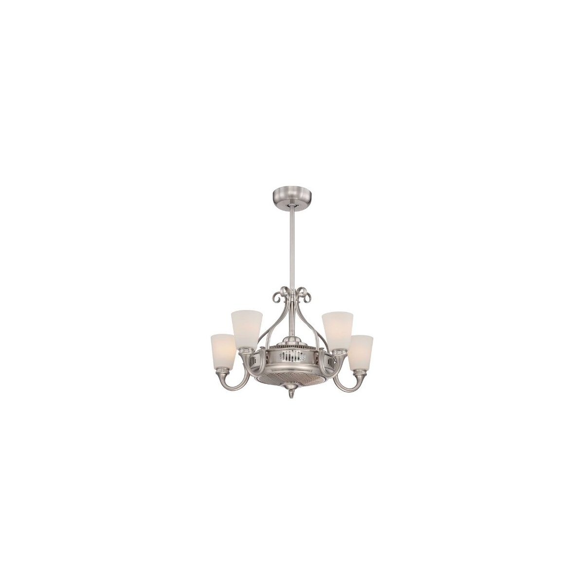Savoy House Borea 5-Light Air-Ionizing Fan d'Lier in Satin Nickel 32-326-FD-SN by Savoy House