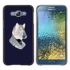 "For Samsung Galaxy E7 E700 , S-type Divertido del inconformista Oso"" - Arte & diseño plástico duro Fundas Cover Cubre Hard Case Cover"