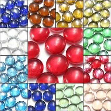 10X Wunderschöne Glasmurmeln 14 mm Perlen Balls Aquarium Dekoration Kyz Kuv Z085367 - Dark GreenT