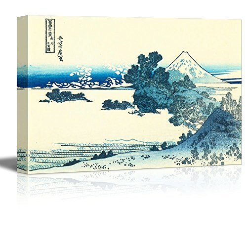 Wall26 - (Buy 2 Get 3rd Same Size Art for Free) Thirty-six Views of Mt. Fuji: Shichiri beach in Sagami Province by Katsushika Hokusai - Canvas Print Wall Art Famous Painting Reproduction - 16